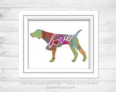 German Shorthaired Pointer GSP Love Canvas by TraciWithaniDesigns
