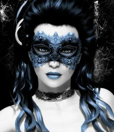 Blue masquerade mask. This is just a gorgeous picture!