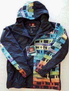 Quicksilver Ski Snowboard Jacket Last Mission Rewind Print High End Features NWT #Quiksilver