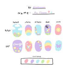 K Pop Nails, Pastel Nails, Cute Acrylic Nails, Swag Nails, Cute Nail Art Designs, Nail Polish Designs, Acrylic Nail Designs, Cute Simple Nails, Really Cute Nails