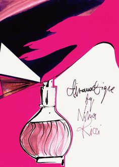 """""""Vintage Scent""""inspiration:""""Airomatique"""" by Nina Ricci perfume ad, 1964."""