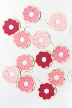 DIY Donut Garland with Paint Chips