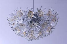 Venini Esprit Murano Kronleuchter Lampe Design Toni Zuccheri 70er VeArt