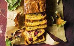 Pear blackberry walnut cake