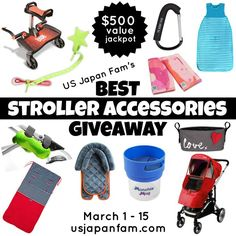 Stroller Accessories?  Giveaway?  YES!