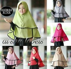 Alika kids светло девочек мгновенный хиджаб цельный светло Амира скольжения на шарф абайя