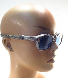 e81877352730 Details about Vintage C Friulana Italy Bamboo Marble Gray Sunglasses