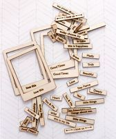 New for CHA-W 2014. From Cosmo Cricket. 3 new sets of wood charms.