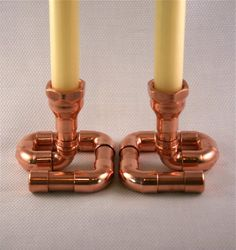 Set of 2 Copper Candle Holders Candlesticks by McGdesign on Etsy, $78.00