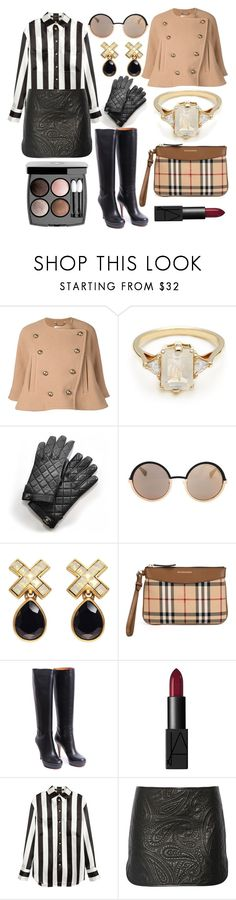 """""""Başlıksız #1006"""" by eeecce ❤ liked on Polyvore featuring Chloé, BEA, Chanel, Marc by Marc Jacobs, Oscar de la Renta, Burberry, Gucci, NARS Cosmetics, H&M and Alexander Wang"""