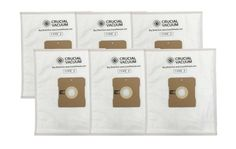 6PK Replacement Cloth Vacuum Bags for Simplicity Canister Vacuums, Type Z, Part No. SZH-6
