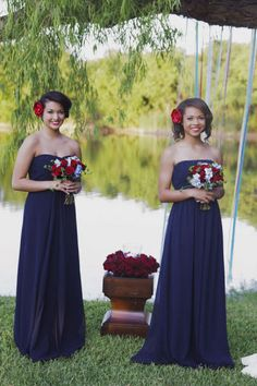 Like the incorporation of red, white, and blue. My bridesmaids will most likely be in red dresses with white bouquets.