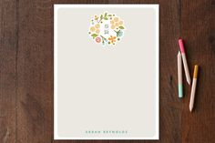 Cerulean Blooms Personalized Stationery by Jennifer Wick at minted.com