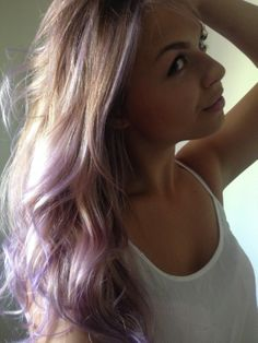 I love my new lavender pastel blonde ombre hair.