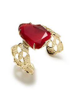 Geometric Floral Cuff Bracelet by Kendra Scott Jewelry at Gilt: