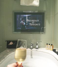 """""""Ever dreamt of sipping champagne and watching Breakfast at Tiffany's while having a bath? Read more about our stay at The Beaumont on…"""" Relaxing Bath, Luxe Life, Breakfast At Tiffanys, Sauna, House Goals, Bath Time, Dream Life, Future House, Life Is Good"""