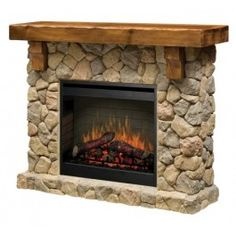 Fieldstone Stone Electric Fireplace Package