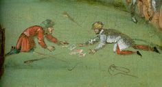 Fruehling:Mai - Männer beim Kartenspiel auf der Wiese (Men playing cards on the meadow)