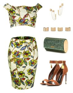 """""""Inighi Floral Combo Set"""" by eme-bassey on Polyvore featuring Tom Ford, Elie Saab, Maison Margiela and Rachel Zoe"""