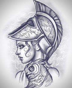 Kratos Goddess Home Workout Program Greek Goddess Tattoo, Greek God Tattoo, Greek Mythology Tattoos, Greek Mythology Art, Roman Mythology, Tattoo Design Drawings, Tattoo Sketches, Tattoo Designs, God Tattoos