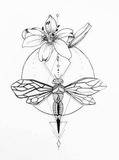 Resultado de imagem para dragonfly thin lines japanese