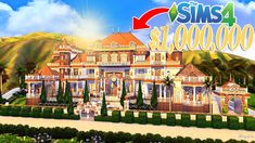 In this video I build a huge mega mansion in The Sims 4 worth over a million Simoleons! Pool Movie, Huge Mansions, The Sims 4 Lots, Underwater House, Sims House Design, Casas The Sims 4, Best Sims, Sims 4 Build, Sims 4 Houses