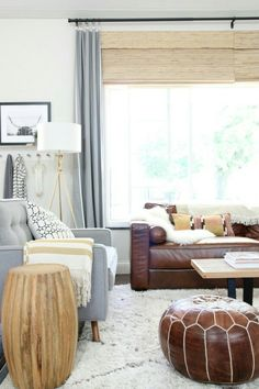 Styling a brown couch