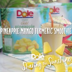 Pineapple Mango Turmeric Smoothie? Yes please!