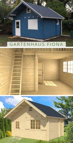 5Eck Gartenhaus mit Anbau Modell Franz28 5 eck