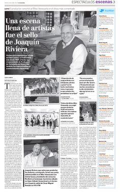Muerte del productor de Venevisión Joaquín Riviera. Publicado el 23 de abril de 2013.