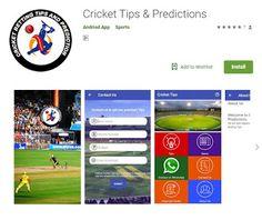 Cricket tips and prediction app Cricket tips We are experts in Cricket tips and predictions. We provide tips and predictions for fu. Cricket Tips, App, Apps