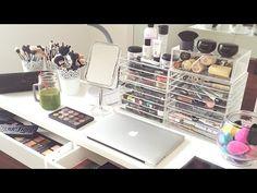 Makeup Storage!! My Makeup Collection and Storage 2015   AlexandrasGirlyTalk - YouTube