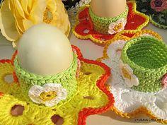 """Ravelry: Crochet Egg Holder """"Easter Flower"""" Tutorial Pattern pattern by Lyubava Crochet"""