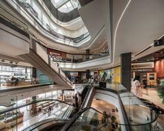 Singha Complex Interior Design by Steven J. Atrium Design, Mall Design, Shopping Malls, Landscape Architecture, Stairs, Interior Design, Building, Modern, Home Decor