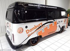 The van's makers say it is 'customised to the absolute max', with features including Porsche alloys and dark glass