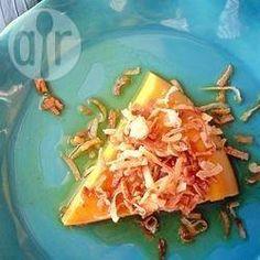 Pudim com leite de coco @ allrecipes.com.br