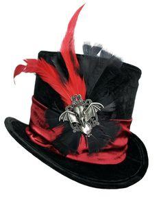 Mini Black Steampunk Top Hat Victorian Goggles Cocktail Women Costume Accessory