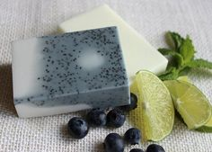 Blueberry Smoothie Swirl Shea Citrus Shave Goat Milk Soap Set / Girl's Night Favor /Back to School Gift www.soapaucity.com