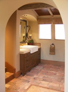 Tuscan Contemporary - traditional - bathroom - orange county - RS Myers Company