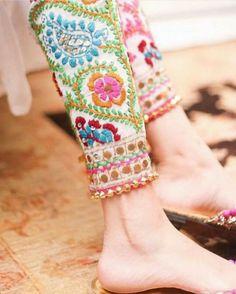 OMG Beautiful Indian Ethnic Pants, Cotton colorful Phulkari Pants (Traditional P… Indian Attire, Indian Wear, Pakistani Outfits, Indian Outfits, Phulkari Pants, Phulkari Punjabi Suits, Salwar Pants, Churidar, Patiala