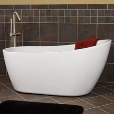 72 sheba acrylic double slipper tub acrylics the shape and bath