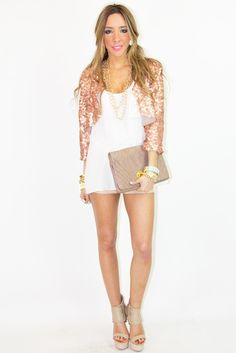 5361c627b41 Rose gold sequin cardigan Sequin Cardigan