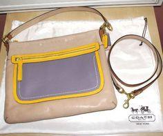 For Sale on Ebay: $248 Authentic Coach Poppy Leather Colorblock Hippie Crossbody Handbag # 22432