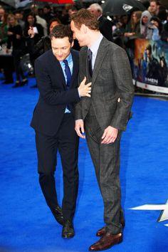 bromance: Michael Fassbender & James Mcavoy