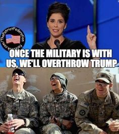 What a joke did they forget how over half of our military supported trump and were unhappy with obama