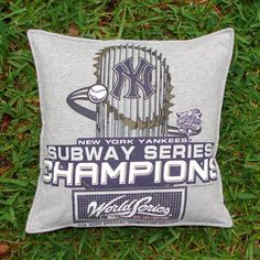 New York Yankees t-shirt pillow cover by BreauxBunchQuilts, $20.00