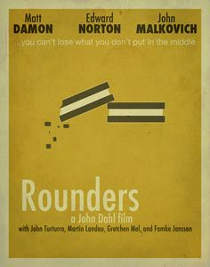 Rounders Minimalist Movie Poster / Poker Room by EntropyTradingCo