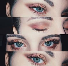 Beauty makeup, makeup goals, eye makeup tips, makeup trends, peach eye Makeup Trends, Makeup Inspo, Makeup Inspiration, Makeup Ideas, Makeup Tutorials, Eyeshadow Tutorials, Makeup Kit, Makeup For Photos, How To Makeup