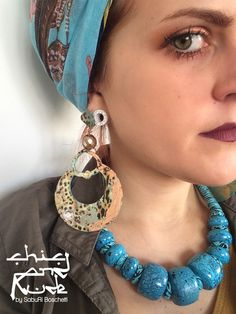 new paper earrings! Leopard Aquamarine! Check my Facebook page and my shop online http://it.dawanda.com/shop/chicandrude