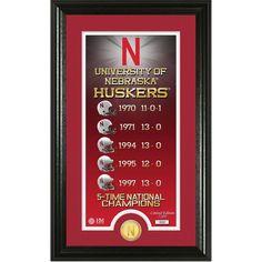 "Nebraska Cornhuskers Highland Mint 15"" x 22"" Legacy Panoramic Photomint - $59.99"